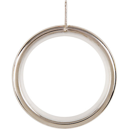 Image for Home Of Style Satin Steel 28mm Curtain Rings 4 Pack from StoreName
