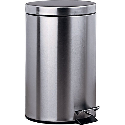 Image for 12 Litre Pedal Kitchen Bin - Silver. from StoreName