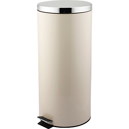 Image for Living Pedal Bin 30 Litre-Cream. from StoreName