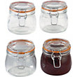 Tala 380ml Glass Storage Jars - Pack of 4.