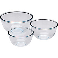 Pyrex 3 Piece Bowl Set.