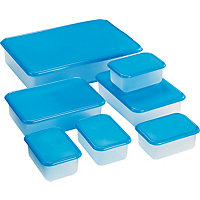 Living 7 Piece Plastic Food Storage Set.