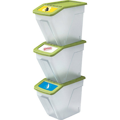 Image for Living 34 Litre Set of 3 Recycle Bins. from StoreName