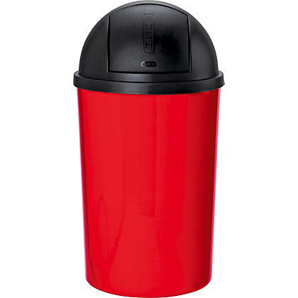 Image for ColourMatch 30 Litre Push Top Kitchen Bin - Poppy Red. from StoreName