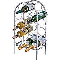14 Bottle Chrome Wine Rack.