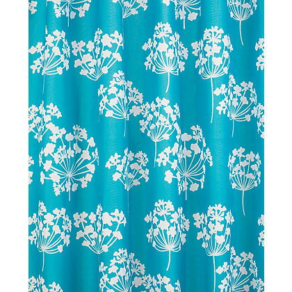 Flora Shower Curtain Blue And White