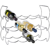 12 Bottle Wine Rack - Steel.