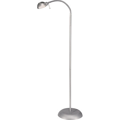 Halogen reading light floor lamp silver for Homebase chandelier floor lamp
