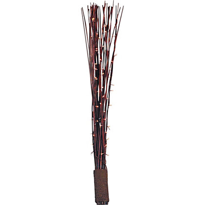 Image for Rope Bound Dark Reed Floor Lamp - Chocolate. from StoreName