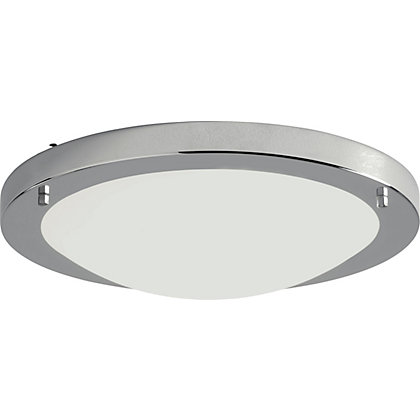 Image for Energy Saving Bathroom Flush Ceiling Light - Chrome. from StoreName