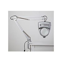 Magnifier Swing Arm Desk Lamp - Silver.
