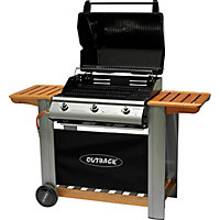 Outback Hooded 3 Burner Gas BBQ - Home Delivery