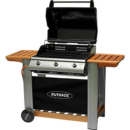 Image for Outback Hooded 3 Burner Gas BBQ - Home Delivery from StoreName
