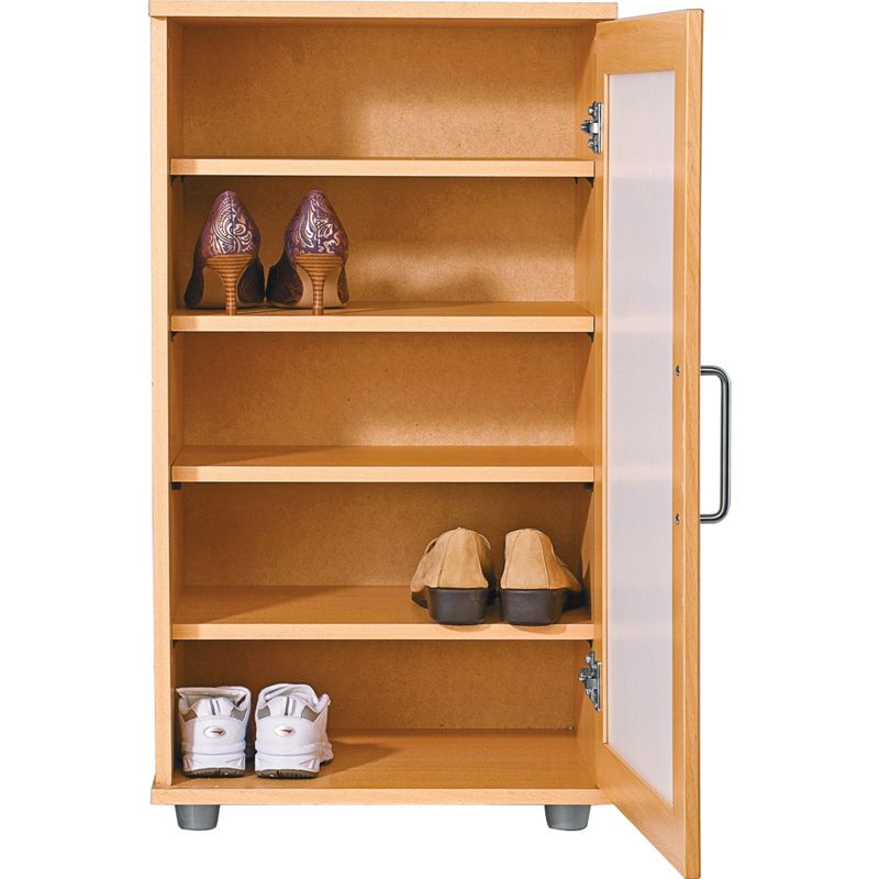shoe storage cabinet beech effect the contemporary beech shoe cabinet