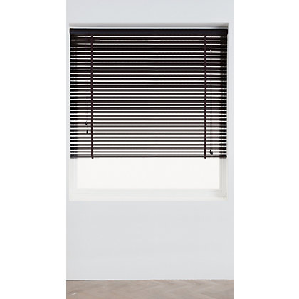 Image for Harrison Drape Espresso Wood 35mm Venetian Blind - 60cm from StoreName