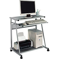Metal PC Trolley - Silver.
