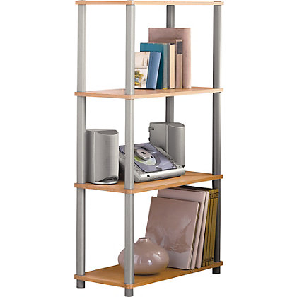 Image for Verona Shelving Unit - Beech Effect. from StoreName
