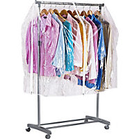 Clothes Rail Cover - Clear.