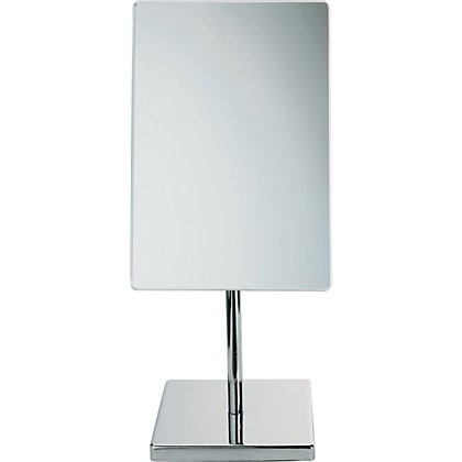 Image for Square Chrome Swivel Mirror from StoreName