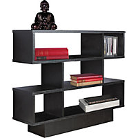 Cubes Effect Shelving Unit - Black Ash.
