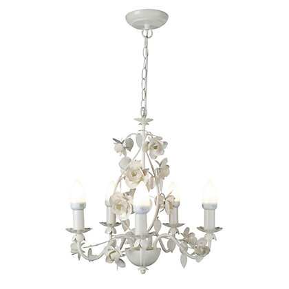 Rosie 5 Arm Cream Chandelier