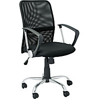 Gas Lift Mesh Mid-Back Office Chair - Black.