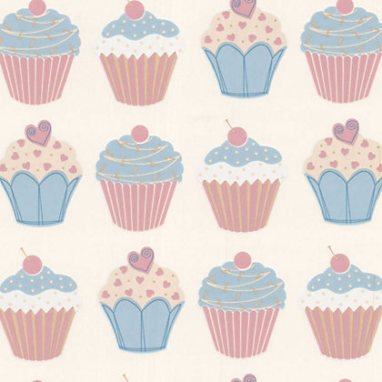 Image for Contour Cupcake Wallpaper - Pastels from StoreName