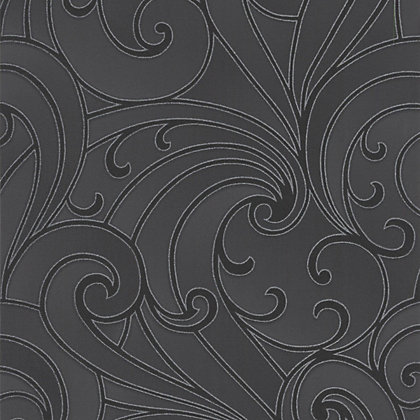 Image for Premier Saville Wallpaper - Charcoal from StoreName