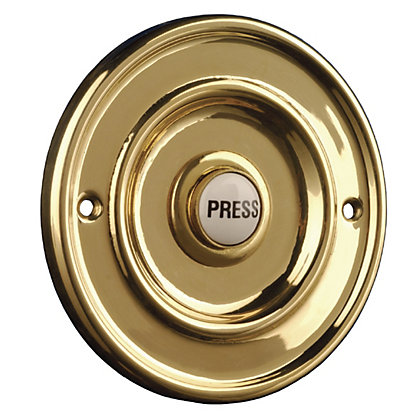 Image for Byron 2207/P1 Wired Push Brass Effect from StoreName