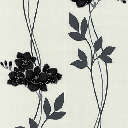 Image for Superfresco Easy Paste the Wall Serene Wallpaper - Black and White from StoreName