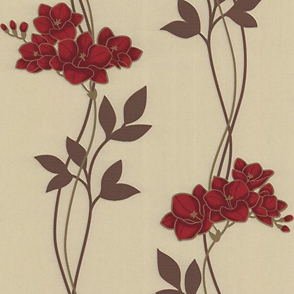 Image for Superfresco Easy Paste the Wall Serene Wallpaper - Red from StoreName
