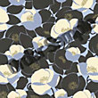 Sample Amy Butler Field Poppies Wallpaper - Stone