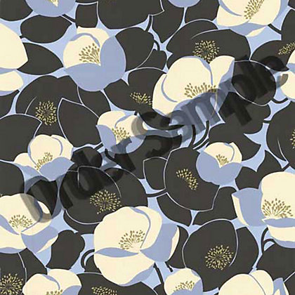 Image for Sample Amy Butler Field Poppies Wallpaper - Stone from StoreName