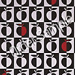 Sample Contour Orchard Wallpaper - Black White and Red