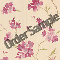 Sample G and B Enthrall Wallpaper - Pink