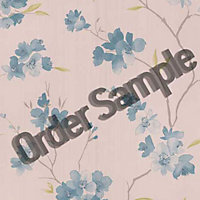 Sample G and B Enthrall Wallpaper - Teal