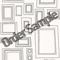 Sample G and B Frames Wallpaper - White
