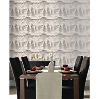 Sample G and B Mirage Wallpaper - Grey