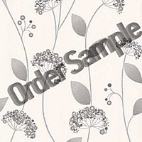 Sample Premier Claire Wallpaper - Grey