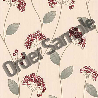 Image for Sample Premier Claire Wallpaper - Red from StoreName