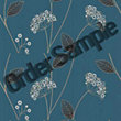 Sample Premier Claire Wallpaper - Teal