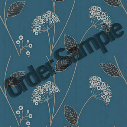 Image for Sample Premier Claire Wallpaper - Teal from StoreName