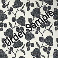 Sample Premier Nadira Wallpaper - Black and White