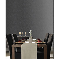 Sample Premier Saville Wallpaper - Charcoal