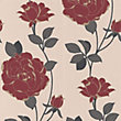 Sample Superfresco Rosey Wallpaper - Red