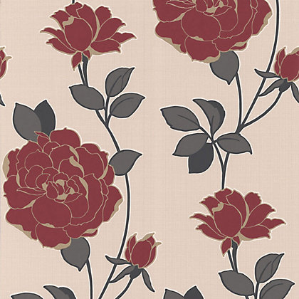 Image for Sample Superfresco Rosey Wallpaper - Red from StoreName