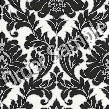 Image for Sample Superfresco Majestic Wallpaper - Black and White from StoreName