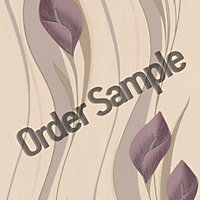 Sample Superfresco Peace Wallpaper - Plum and Cream