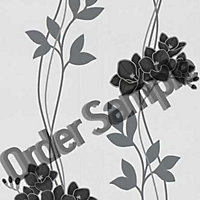 Sample Superfresco Serene Wallpaper - Black and White