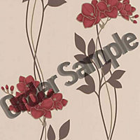Sample Superfresco Serene Wallpaper - Red
